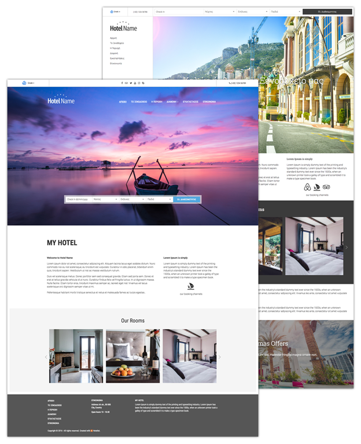 Hotelist website builder hotelist hotel management system content editing is done simply with a drag drop editor solutioingenieria Gallery
